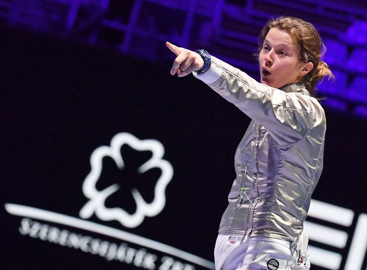 Après les championnats du monde de juillet à Budapest, Cécilia Berder se prépare pour Tokyo 2020 et la vidéo est l'un des outils essentiels pour progresser dans la pratique. (BIZZI TEAM)