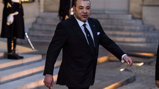 Le roi du Maroc, Mohammed VI, à l'Elysée, à Paris, le 9 février 2014. (  MAXPPP)