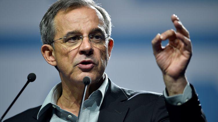 Le député européen Thierry Mariani, lors d'un meeting à Metz, le 1er mai 2019. (JEAN-CHRISTOPHE VERHAEGEN / AFP)