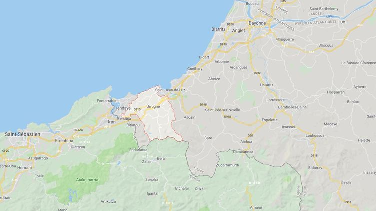 Les affrontements se sont déroulés à Urrugne, près du camp où résident une partie des opposants au sommet du G7, qui s'ouvre samedi à Biarritz. (GOOGLE MAPS)