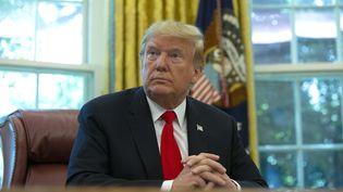 Le président des Etats-Unis Donald Trump lors d'une réunion à la Maison Blanche, à Washington DC, le 4 septembre 2019. (STEFANI REYNOLDS / CONSOLIDATED NEWS PHOTOS / AFP)