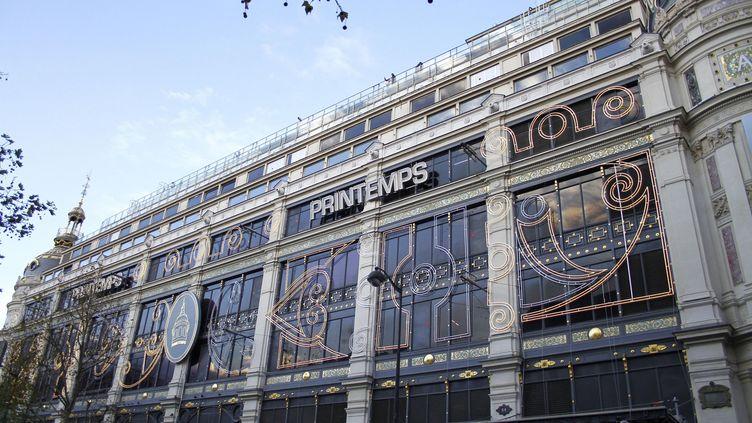 Le magasin amiral du groupe Printemps, boulevard Haussmann, à Paris, le 28 novembre 2012. (BELZ LAURA / SIPA)