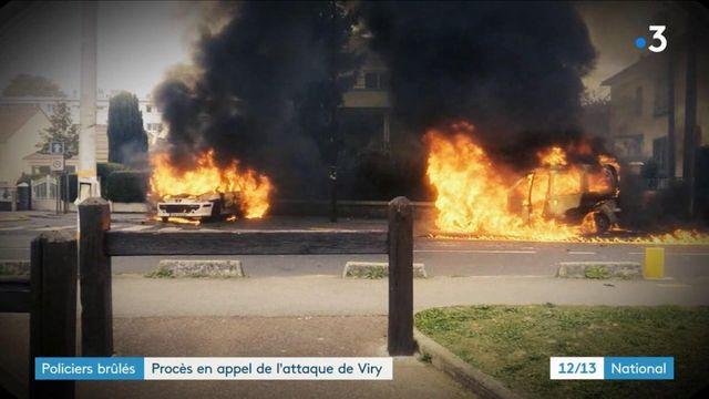 Policiers brûlés à Viry-Châtillon : 13 jeunes accusés jugés en appel à Paris