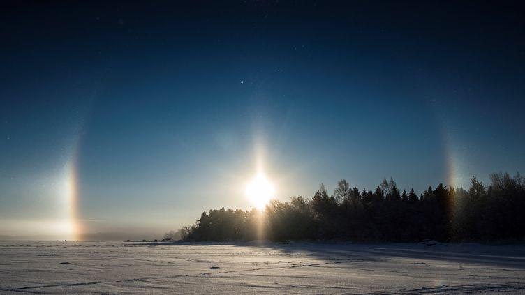Vue depuis la ville de Vaasa, en Finlande, en janvier 2017 (illustration). (OLIVIER MORIN / AFP)