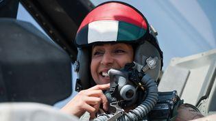 La pilote émiratie Mariam Al-Mansouri, le 25 septembre 2014. (WAM / AFP)