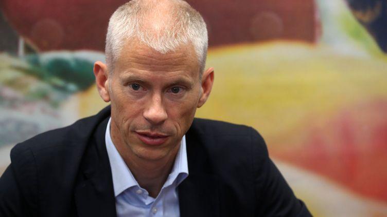 Le ministre de la Culture Franck Riester au festival d'Avignon, le 15 juillet 2019. (ALAIN ROBERT/SIPA / SIPA)