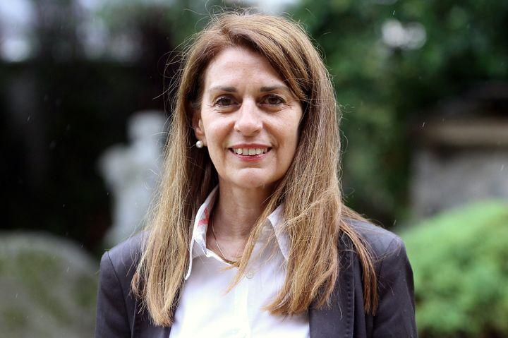 Marie-Agnès Staricky, candidate de La République en marche aux élections législatives, le 18 mai 2017 à Tarbes (Hautes-Pyrénées). (LAURENT DARD / AFP)