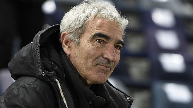 Raymond Domenech au stade Jean Bouin, à Paris, le 10 février 2015. (FRANCK FIFE / AFP)