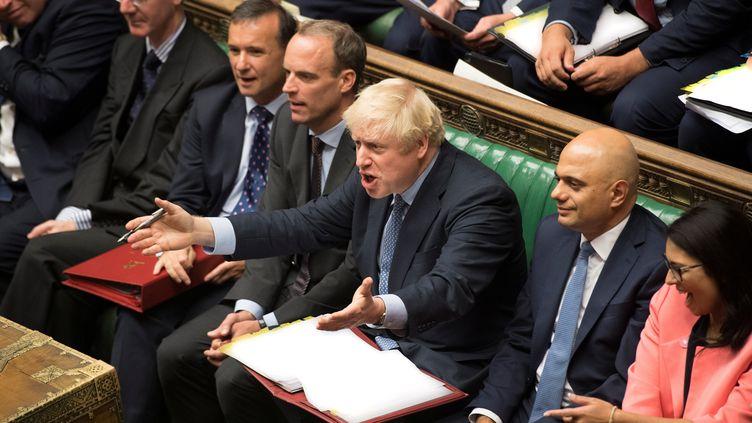 Le Premier ministre britannique Boris Johnson au Parlement de Westminster, le 4 septembre 2019, à Londres. (REUTERS)