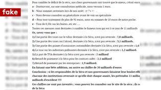 Le document, qui circule depuis au moins 2008, est un tissus de mensonges. (FRANCEINFO / RADIOFRANCE)