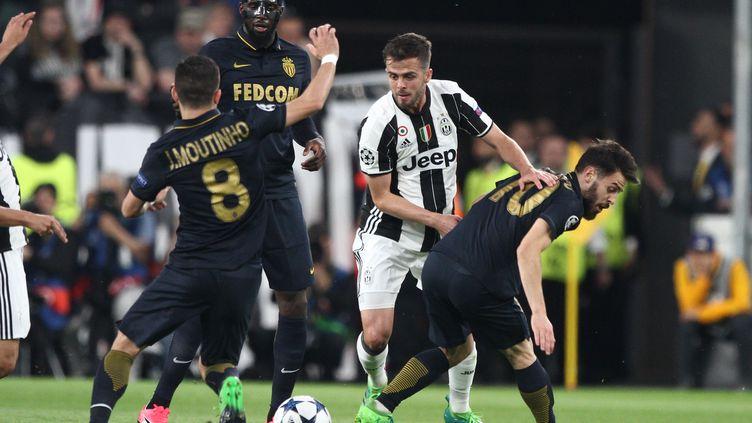 La demi-finale de Ligue des champions entre Monaco et la Juventis, à Turin (Italie), le 9 mai 2017. (MATTEO BOTTANELLI / NURPHOTO / AFP)