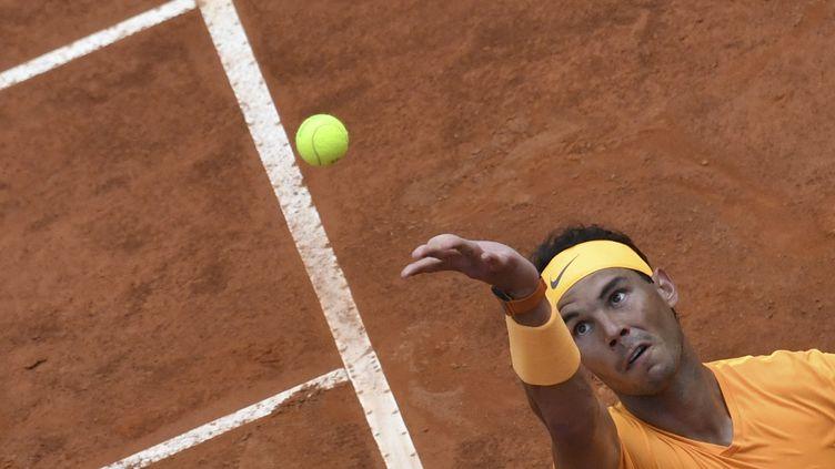 Rafael Nadal a dû s'employer face à Fognini (ANDREAS SOLARO / AFP)