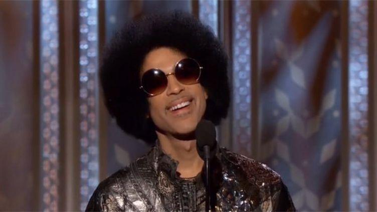 Prince aux Golden Globes le 11 janvier 2015.  (saisie écran)