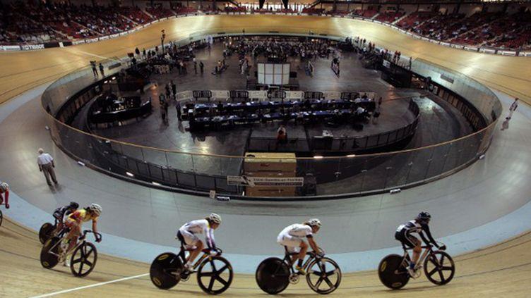 Le Vélodrome St-Quentin s'apprête à vivre ses premiers championnats du monde (MATTHIEU ALEXANDRE / AFP)