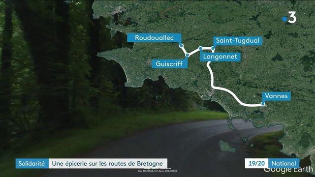 Solidarité : sur les routes de Bretagne pour distribuer des colis alimentaires