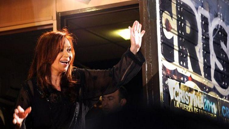 La présidente sortante Christine Kirchner a été reconduite à la tête de l'Argentine le 23 octobre 2011. (DANIEL GARCIA / AFP)
