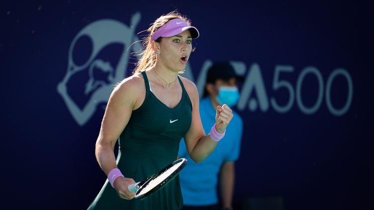 L'Espagnole Paula Badosa lors du tournoi d'Abu Dabi, le 10 janvier 2021.  (ROB PRANGE / SPAIN DPPI)