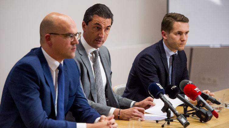 Les avocats Bart Verbelen, Kris Luyckx et Xavier Potvin (JASPER JACOBS / BELGA MAG)