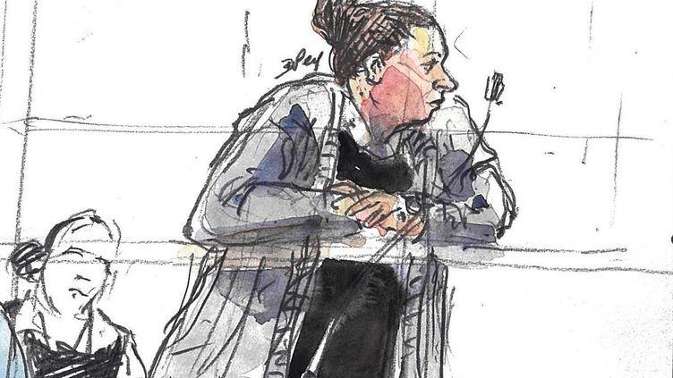 Inès Madani lors de son procès en première instance à la cour d'assises de Paris, le 11 avril 2019. (BENOIT PEYRUCQ / AFP)