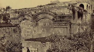 La Porte dorée à Jérusalem, entre 1856 et 1860. (Franck Mason Goof, Library of the Congress)