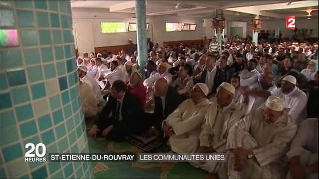 Saint-Étienne-du-Rouvray : l'hommage des catholiques et des musulmans au père Hammel