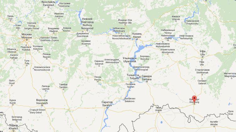 Les restes fossilisés de l'animal ont été retrouvés dans le sud de l'Oural, près d'Orenbourg (Russie). ( GOOGLE MAPS)