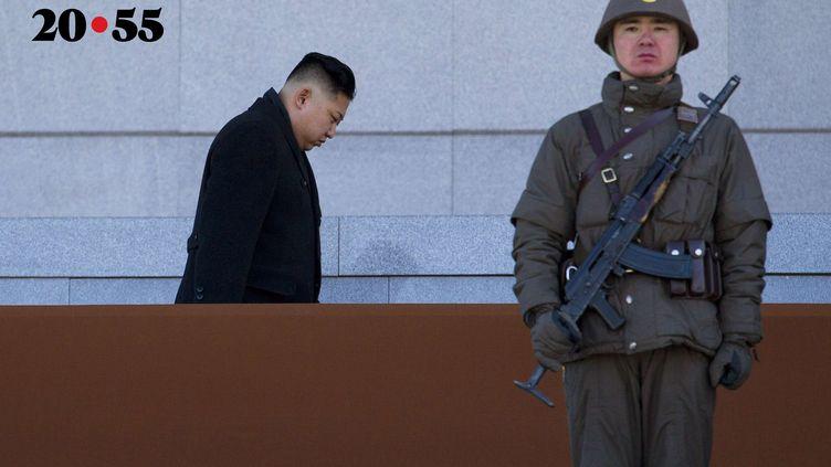 Leleader nord-coréen Kim Jong arrive au Palais Kumsusan à Pyongyang, pour commémorer les 70 ans de son défunt père, Kim Jong Il. Le 16 février 2012. (DAVID GUTTENFELDER/AP/SIPA/AP)