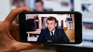 Emmanuel Macron, le 4 décembre 2020, à Paris. (BERTRAND GUAY / AFP)