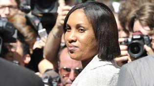 Nafissatou Diallo, qui accusait Dominique Strauss-Kahn d'agression sexuelle, le 22 août 2011 devant le tribunal de New York (Etats-Unis). (MLADEN ANTONOV / AFP)