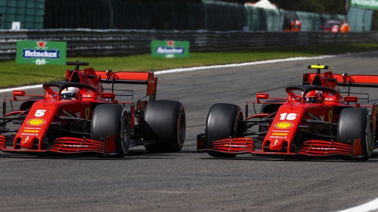 Sebastian Vettel (à gauche) et Charles Leclerc. (DPPI / DPPI MEDIA)