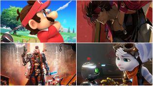 """Entre""""Mario Golf : Super Rush"""", """"GuiltyGearStrive"""", """"Necromunda:HiredGun""""et """"Ratchet & Clank : Rift Apart"""", il y en aura pour tous les goûts en juin sur consoles et PC. (Captures d'écran ou images DR)"""