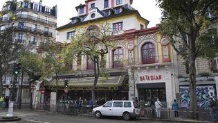 Le salle de concert du Bataclan, qui rouvre ses portes samedi 12 novembre 2016,à la veille des commémorations des attentats de Paris. (JANERIK HENRIKSSON / TT NEWS AGENCY / AFP)