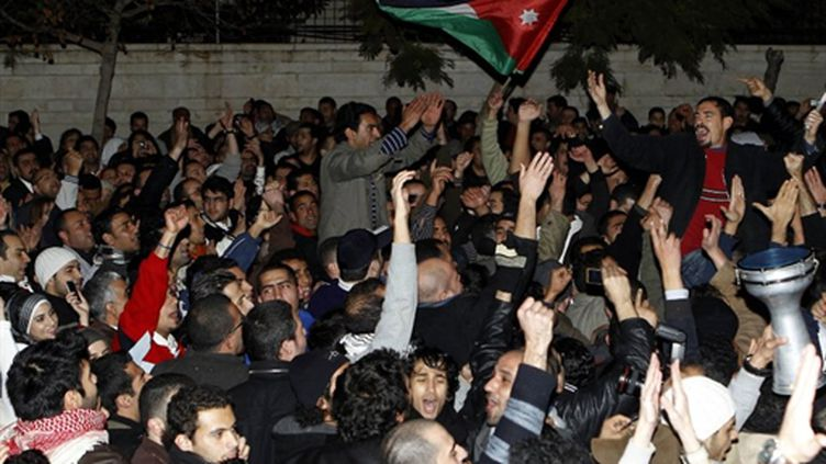 Manifestation à Amman le 11février 2011 (AFP - KHALIL MAZRAAWI)