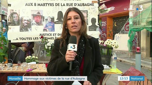 Marseille : hommage aux victimes de la rue d'Aubagne