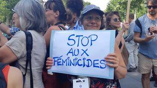 Manifestation contre les violences faites aux femmes, le 6 juillet 2019 à Paris (RÉMI BRANCATO / FRANCE-INTER)