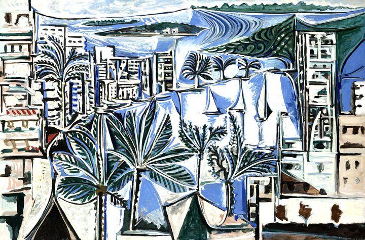 Pablo Picasso,La Baie de Cannes, Cannes, 19 avril 1958 - 9 juin 1958,Musée national Picasso-Paris, Dation Pablo Picasso, 1979 (© RMN-Grand Palais / Mathieu Rabeau © Succession Picasso 2019)