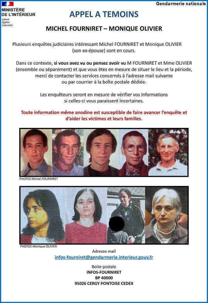 Appel à témoins diffusé le 12 novembre 2020 sur Michel Fourniret et Monique Olivier. (GENDARMERIE NATIONALE)