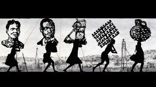 """Extrait de """"KABOOM!"""", œuvre deWilliam Kentridge (2018) (WILLIAM KENTRIDGE / COURTESY DE L'ARTISTE ET DE LAUT ARCHIV (PHOTO THYS DULLAART))"""