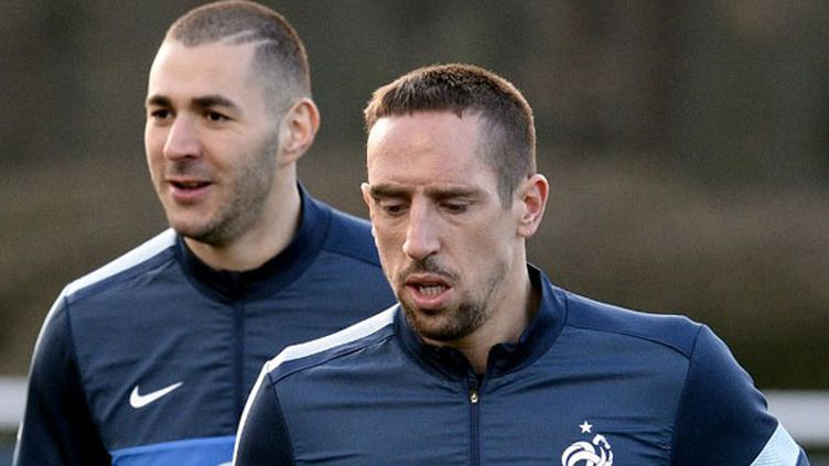 Les joueurs français Karim Benzema et Franck Ribéry