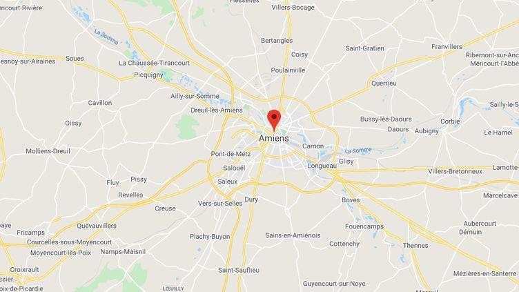Sept personnes d'une vingtaine d'années sont en garde à vue, mardi 31 mars, au lendemain d'une tentative d'homicide à Amiens. (GOOGLE MAPS)