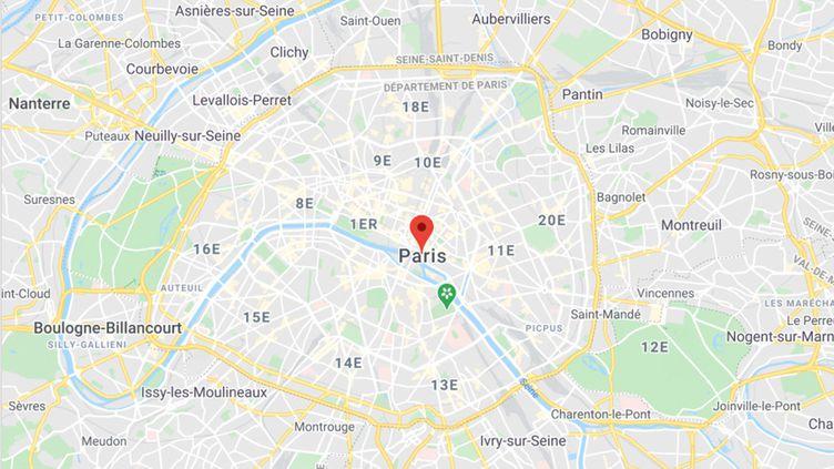 Plan de Paris. (GOOGLE MAPS)