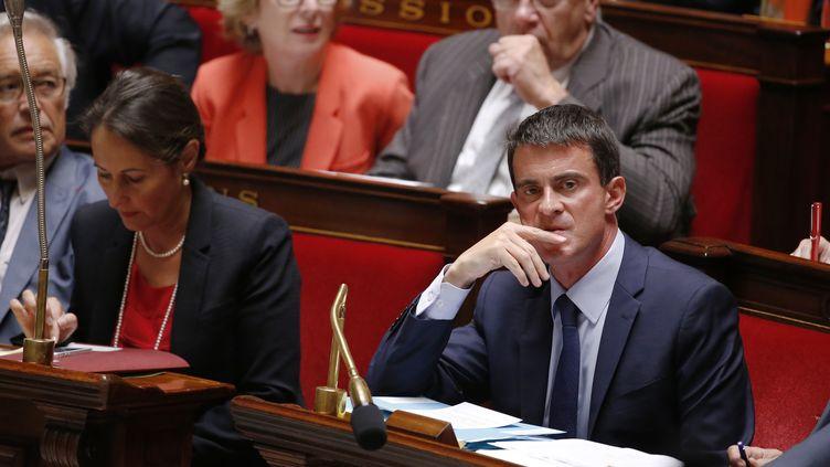 Le Premier ministre, Manuel Valls, à l'Assemblée nationale, à Paris, le 17 septembre 2014. (THOMAS SAMSON / AFP)