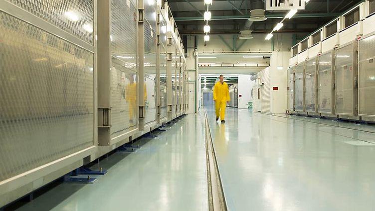 Une photo fournie le 6 novembre 2019 parl'Agence internationale de l'énergie atomiquemontre l'intérieur du complexe d'enrichissement d'uranium de Fordo, situé à Qom (Iran). (ATOMIC ENERGY ORGANIZATION OF IRAN / AFP)