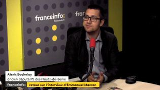 L'ex-député socialiste des Hauts-Seine, Alexis Bachelay, le 16 octobre 2017, sur franceinfo. (RADIO FRANCE / FRANCEINFO)