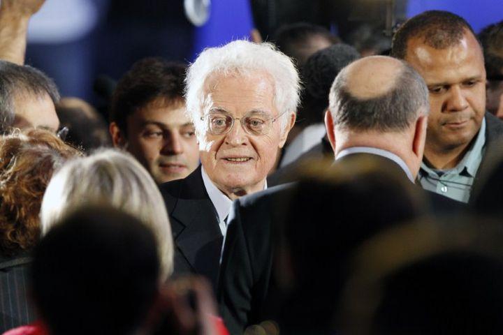 L'ancien premier ministre, Lionel Jospin, est venu soutenir François Hollande, dimanche 22 janvier 2012, au meeting du Bourget. (PATRICK KOVARIK / AFP)