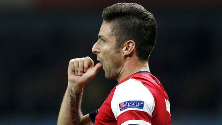 L'attaquant d'Arsenal Olivier Giroud