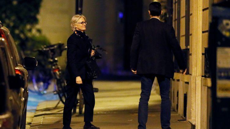 Penelope Fillon, après son auditon devant les juges financiers, mardi 28 mars 2017 à Paris. (THOMAS SAMSON / AFP)