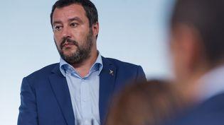 Le ministre de l'Intérieur italien, Matteo Salvini, à Rome, le 15 octobre 2018. (MICHELE SPATARI / NURPHOTO / AFP)