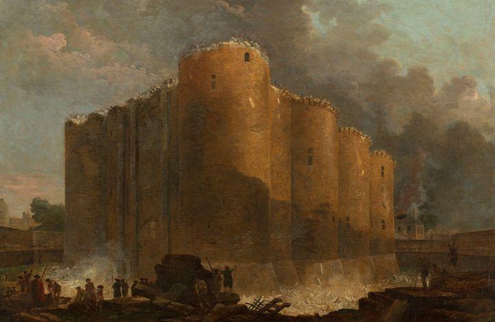 Hubert Robert (Paris, 1733-1808), La Bastille dans les premiers jours de sa démolition, 1789 (© musée Carnavalet – Histoire de Paris)