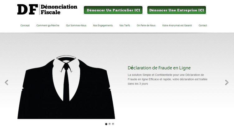 Capture d'écran du site Dénonciation fiscale.com créé par un étudiant niçois de 23 ans. (FTVI )